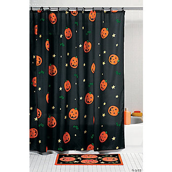 Jack-O'-Lantern Shower Curtain