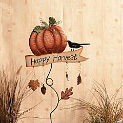 """Happy Harvest"" Yard Stake"