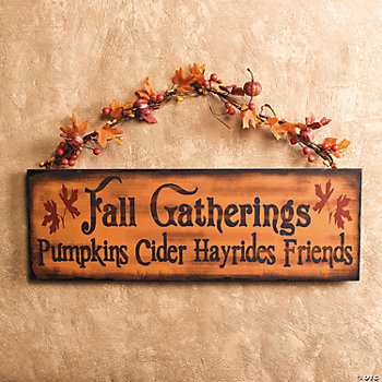 """Fall Gatherings"" Wall Hanging"