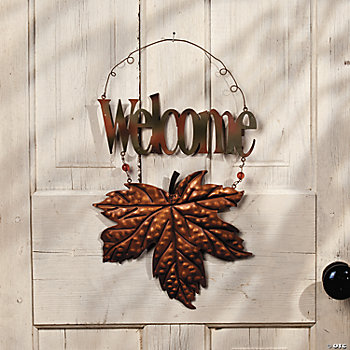 "Leaf ""Welcome"" Wall Décor"