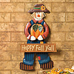 """Happy Fall Y'all"" Hanging Scarecrow"