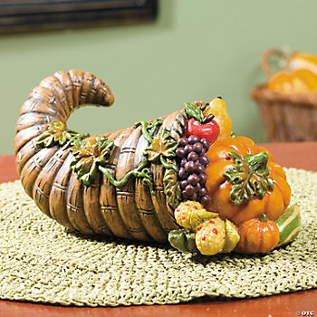 Cornucopia with Fruit & Vegetables