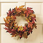Light-Up Harvest Wreath
