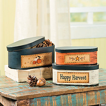 """Happy Harvest"" Stacking Boxes"