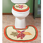 Fall Leaves Toilet Lid Cover & Rug