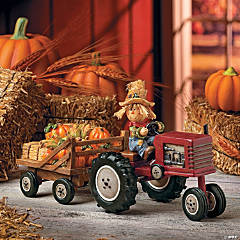 Scarecrow with Hay Trailer