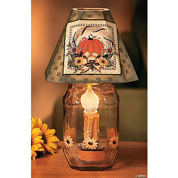 Harvest Jar Candle Lamp