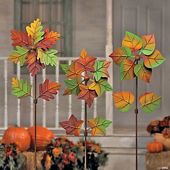 Turning Leaves Pinwheel Yard Stakes