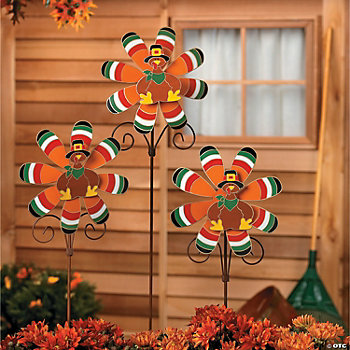 Turkey Pinwheel Yard Stakes
