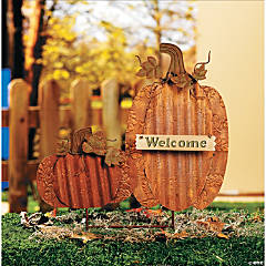 "Pumpkin ""Welcome"" Yard Stake"