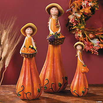Harvest Girls Figurines