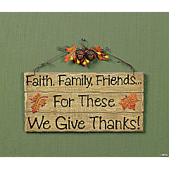 """We Give Thanks!"" Sign"