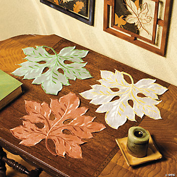 Fall Leaf Doilies