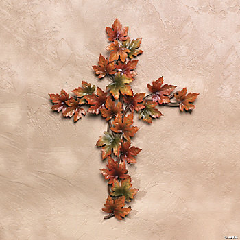 Fall Leaves Cross