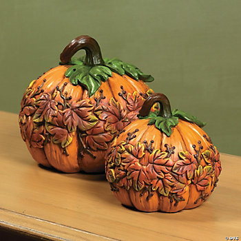 Embossed Leaf Pumpkins