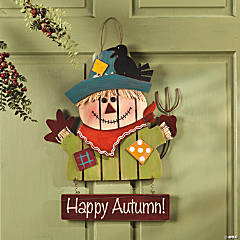 """Happy Autumn!"" Scarecrow Sign"