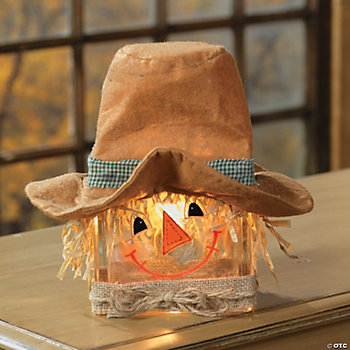 Scarecrow Glass Block Lamp