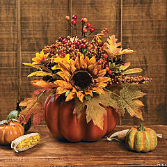 Pumpkin with Mixed Florals & Berries