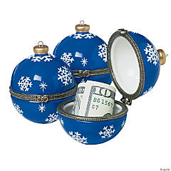 Snowflake Ornament Hinged Boxes