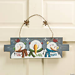"""Live, Love, Laugh"" Snowmen Sign"