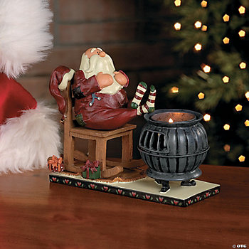 Fireside Santa Tealight Holder