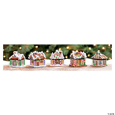Gingerbread Village Hinged Boxes Oriental Trading