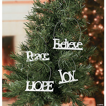 Inspiring Word Ornaments