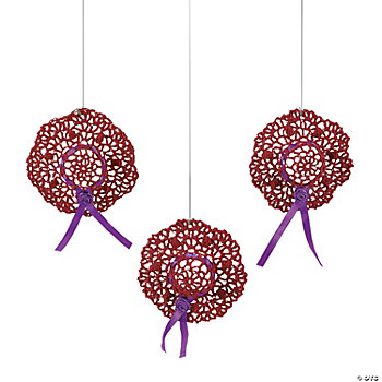 Crocheted Red & Wild Hat Ornaments