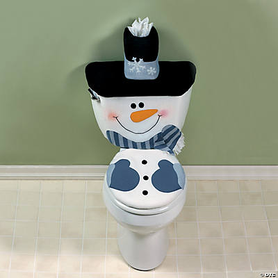 Snowman toilet cover set oriental trading discontinued for Snowman pocket tissues