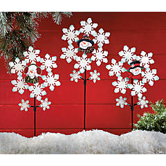 Snow Flurries Pinwheel Yard Stakes