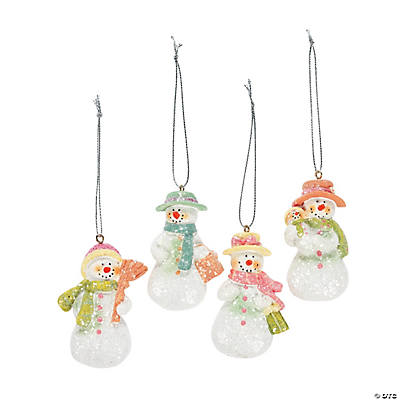 Snow Ladies Christmas Ornaments