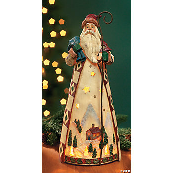 Patchwork Santa Light