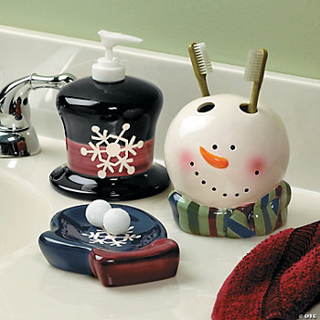 Snowman Bathroom Accessories