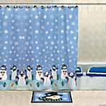 Polyester Snowmen Shower Curtain