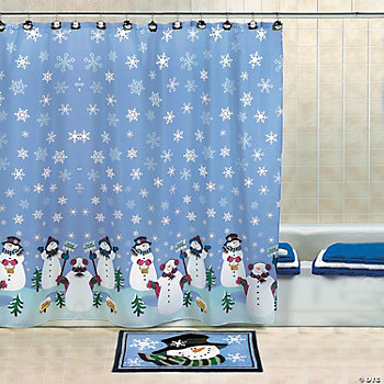 Snowmen Shower Curtain