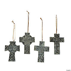 Thick Cross Christmas Ornaments