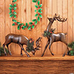 Bowing And Standing Reindeer