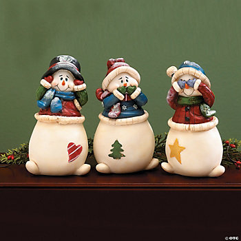 Hear, Speak, See No Evil Snowmen