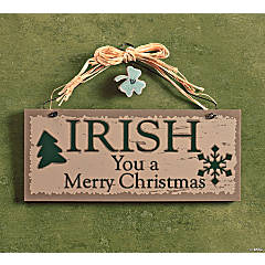 """Irish"" Christmas Sign"