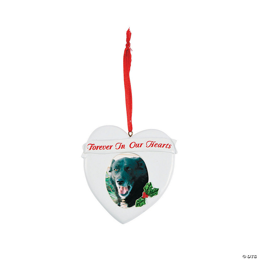 """Forever in Our Hearts"""" Picture Frame Christmas Ornament"""