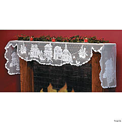 Christmas Village Mantel Scarf