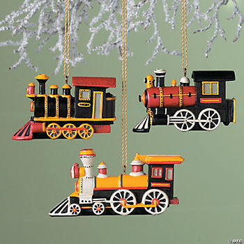 Locomotive Train Ornaments