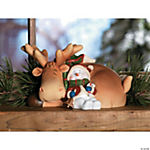 Sleeping Snowman with Deer