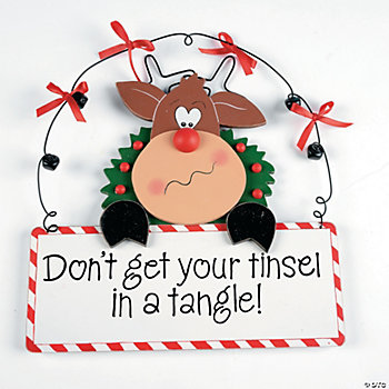 """Tinsel in a Tangle"" Sign"