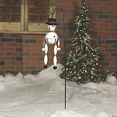 Snowman Jingle Bell Yard Stake