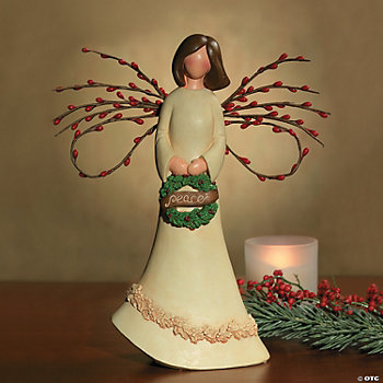 Tabletop Angel with Berry Wings