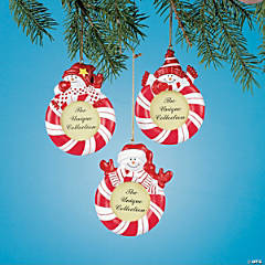 Red & White Snowman Ornaments