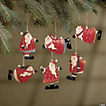 Tin Santa Christmas Ornaments