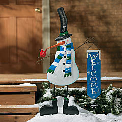 "Snowman ""Welcome"" Yard Stake"