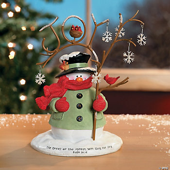 Snowman with Rustic Tree